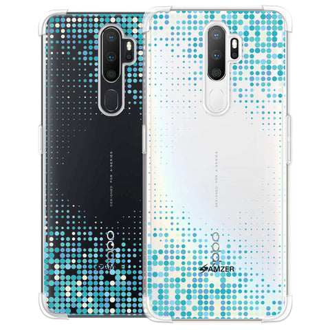 Blue Matrix Soft Flex Tpu Case For Oppo A5 2020