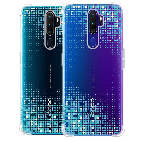 Blue Matrix Soft Flex Tpu Case For Oppo A9 2020