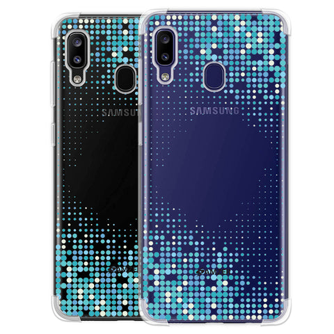 Blue Matrix Soft Flex Tpu Case For Samsung Galaxy M10s