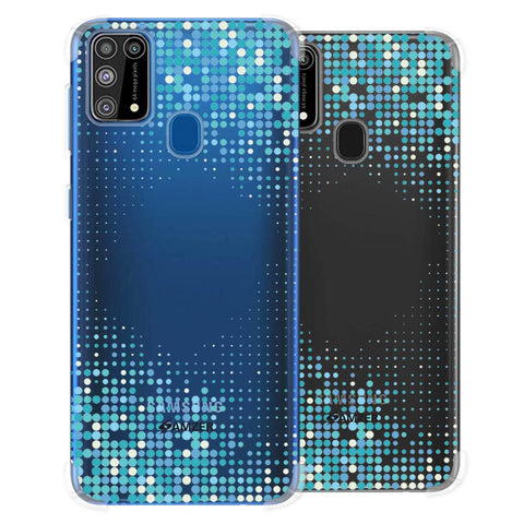 Blue Matrix Soft Flex Tpu Case For Samsung Galaxy M31