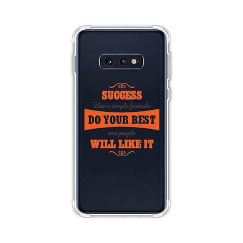 Success Do Your Best Soft Flex Tpu Case For Samsung Galaxy S10e