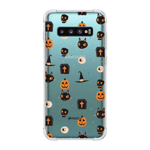 Spooky Collage Soft Flex Tpu Case For Samsung Galaxy S10 Plus