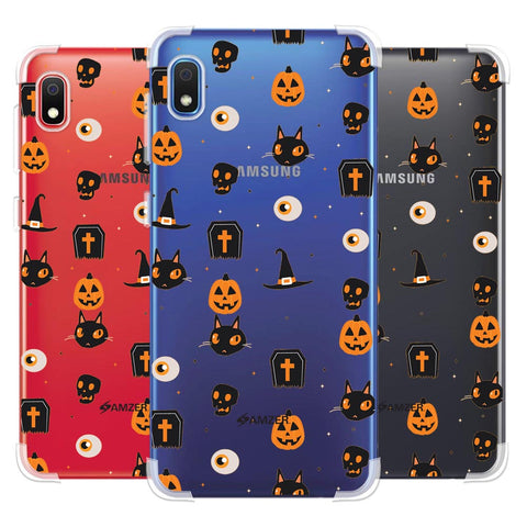 Spooky Collage Soft Flex Tpu Case For Samsung Galaxy A10e
