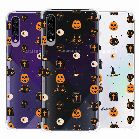 Spooky Collage Soft Flex Tpu Case For Samsung Galaxy A30s