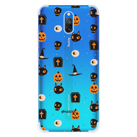 Spooky Collage Soft Flex Tpu Case For Redmi 8A Dual
