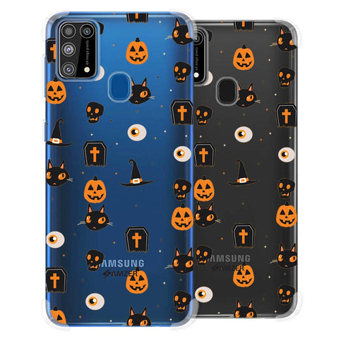 Spooky Collage Soft Flex Tpu Case For Samsung Galaxy M31
