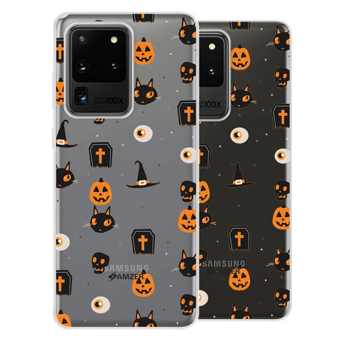 Spooky Collage Soft Flex Tpu Case For Samsung Galaxy S20 Ultra