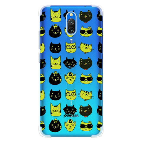 Cat Party Soft Flex Tpu Case For Redmi 8A Dual