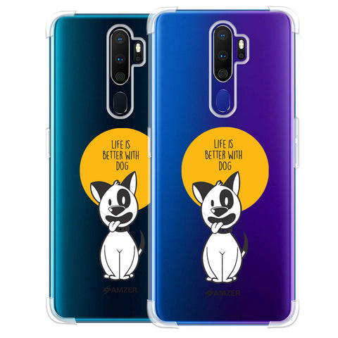 Life Is Better With A Dog Soft Flex Tpu Case For Oppo A9 2020