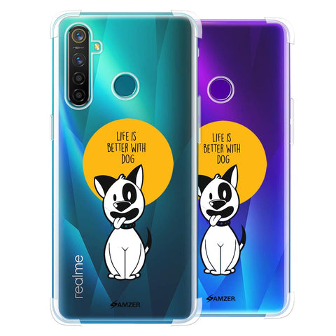 Life Is Better With A Dog Soft Flex Tpu Case For Realme 5 Pro