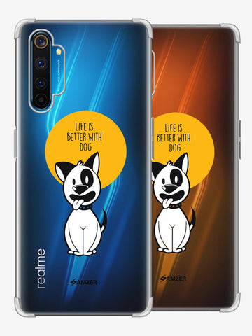 Life Is Better With A Dog Soft Flex Tpu Case For Realme 6 Pro