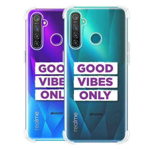 Good Vibes Only Soft Flex Tpu Case For Realme Q