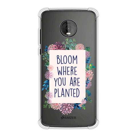 Bloom Where You Are.. Soft Flex Tpu Case For Motorola Moto Z4