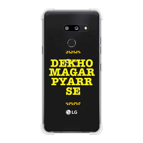 Dekho Magar Pyaar Se Soft Flex Tpu Case For LG G8 ThinQ