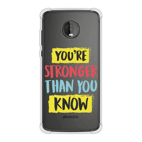 You Are Stronger Than.. Soft Flex Tpu Case For Motorola Moto Z4