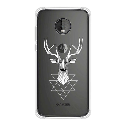 Geometric Deer Soft Flex Tpu Case For Motorola Moto Z4
