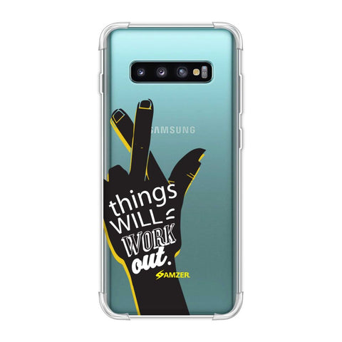 Things Will Work Out Soft Flex Tpu Case For Samsung Galaxy S10 Plus