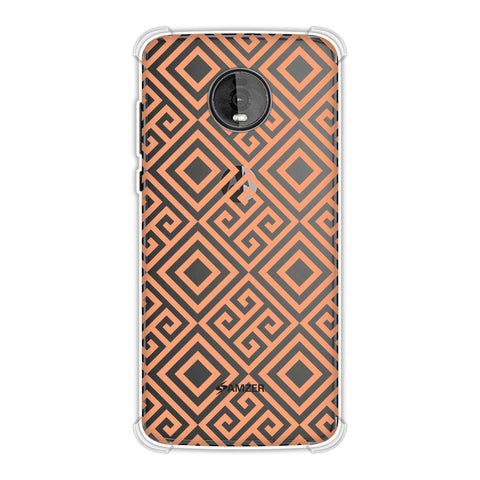 Falling Squares Soft Flex Tpu Case For Motorola Moto Z4