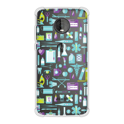 Doctor Pattern 1 Soft Flex Tpu Case For Motorola Moto Z4