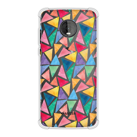 Bold Shapes Soft Flex Tpu Case For Motorola Moto Z4