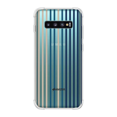 Stripes- Blues Soft Flex Tpu Case For Samsung Galaxy S10 Plus