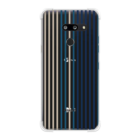 Stripes- Blues Soft Flex Tpu Case For LG G8 ThinQ