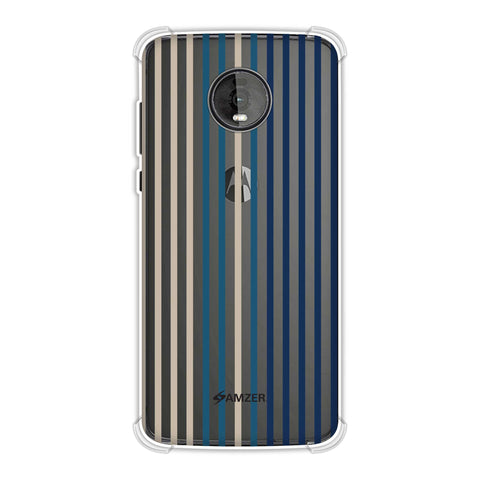 Stripes- Blues Soft Flex Tpu Case For Motorola Moto Z4