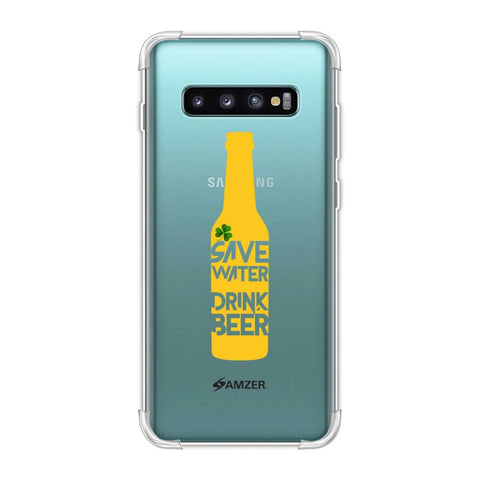 Save water drink beer - Black Soft Flex Tpu Case For Samsung Galaxy S10 Plus