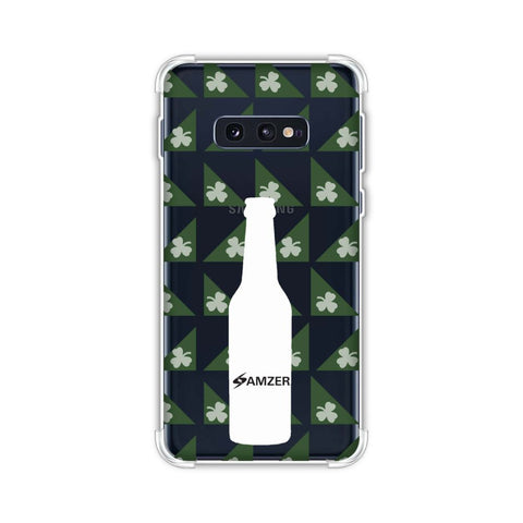 Beer and pattern with shemrock - Green Soft Flex Tpu Case For Samsung Galaxy S10e
