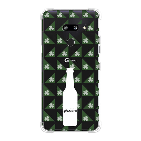 Beer and pattern with shemrock - Green Soft Flex Tpu Case For LG G8 ThinQ