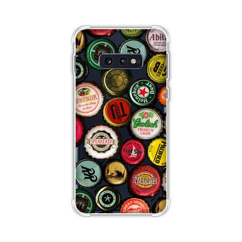Beer Caps Yellow Soft Flex Tpu Case For Samsung Galaxy S10e