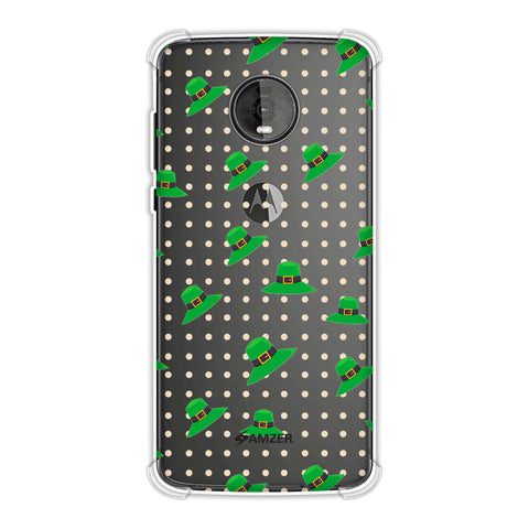 Irish Hats - Green Soft Flex Tpu Case For Motorola Moto Z4