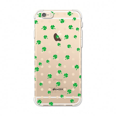 Shamrocks - Green Soft Flex TPU Case For Apple iPhone 6