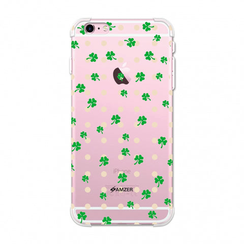 Shamrocks - Green Soft Flex TPU Case For Apple iPhone 6 Plus