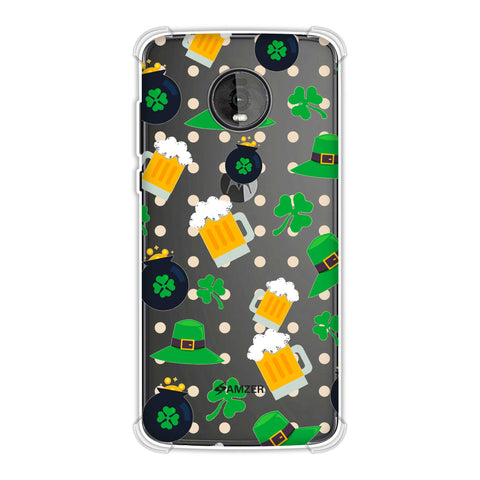 Shamrock, hats, beer and potluck - Green Soft Flex Tpu Case For Motorola Moto Z4