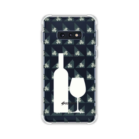 Wine and pattern with shemrock - Teal Soft Flex Tpu Case For Samsung Galaxy S10e