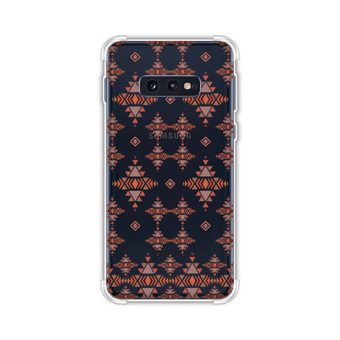 Tribal tessellations- Burnt red Soft Flex Tpu Case For Samsung Galaxy S10e