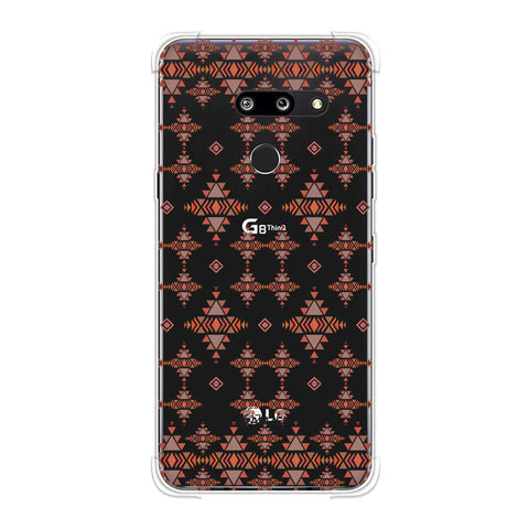 Tribal tessellations- Burnt red Soft Flex Tpu Case For LG G8 ThinQ