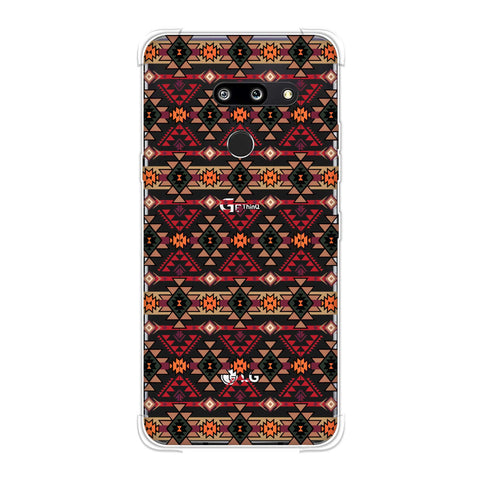 Tribal tessellations- Forest green and fire red Soft Flex Tpu Case For LG G8 ThinQ