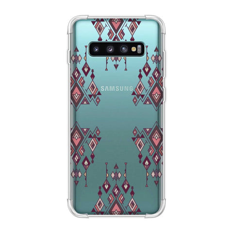 Tribal dangles- Antique ruby Soft Flex Tpu Case For Samsung Galaxy S10 Plus