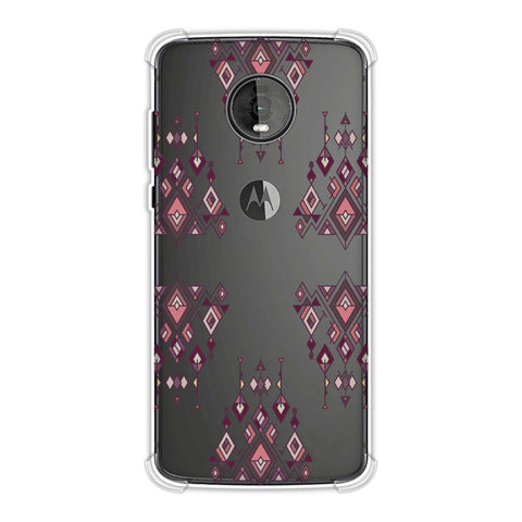 Tribal dangles- Antique ruby Soft Flex Tpu Case For Motorola Moto Z4