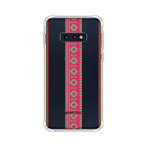 Tribal patterns and solids- Aquamarine and awesome pink Soft Flex Tpu Case For Samsung Galaxy S10e