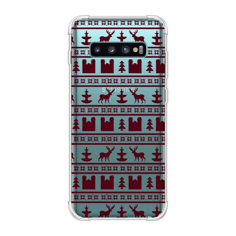 Reindeer repeats- Bulgarian rose Soft Flex Tpu Case For Samsung Galaxy S10 Plus