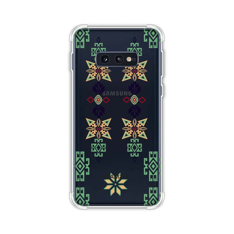 Tribal motif placement- Hot pink and bright teal Soft Flex Tpu Case For Samsung Galaxy S10e