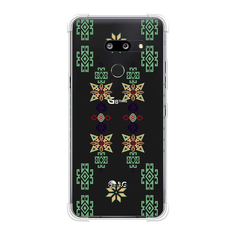 Tribal motif placement- Hot pink and bright teal Soft Flex Tpu Case For LG G8 ThinQ