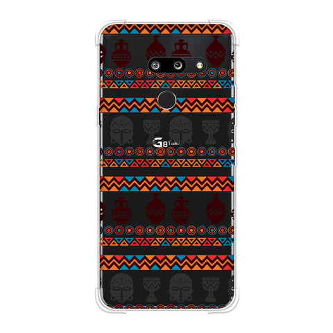 Masks and pottery- Pink and grey Soft Flex Tpu Case For LG G8 ThinQ