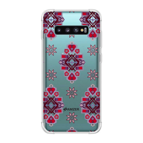 Tribal florals- Bright pink Soft Flex Tpu Case For Samsung Galaxy S10 Plus