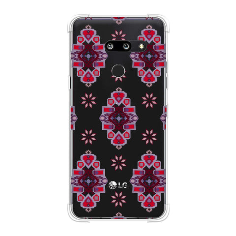 Tribal florals- Bright pink Soft Flex Tpu Case For LG G8 ThinQ