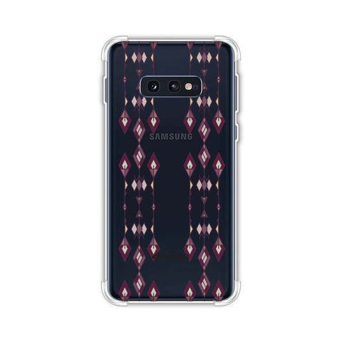 Tribal diamonds and marbles- Purple and beige Soft Flex Tpu Case For Samsung Galaxy S10e