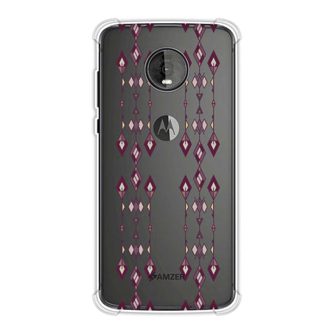 Tribal diamonds and marbles- Purple and beige Soft Flex Tpu Case For Motorola Moto Z4